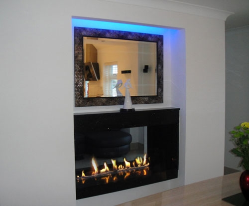 2 BIO CONTAINERS (large) in a granite see-through fire. Picture: courtesy of a customer David Hildred.