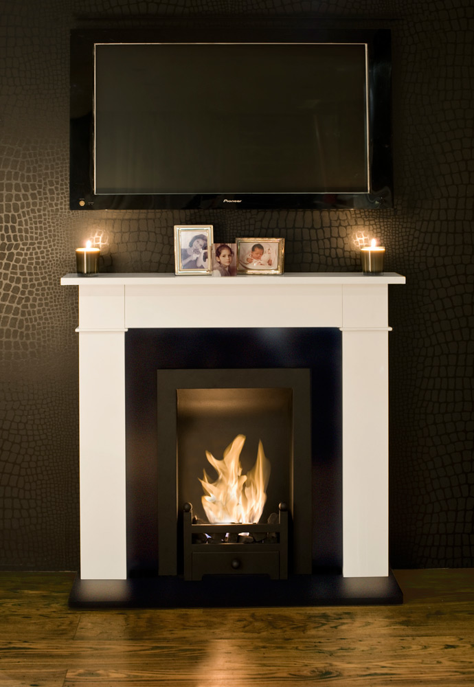 carrington cream traditional bio ethanol fireplace. Black Bedroom Furniture Sets. Home Design Ideas