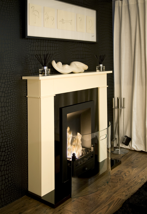 out of stock carrington cream traditional bio ethanol fireplace. Black Bedroom Furniture Sets. Home Design Ideas