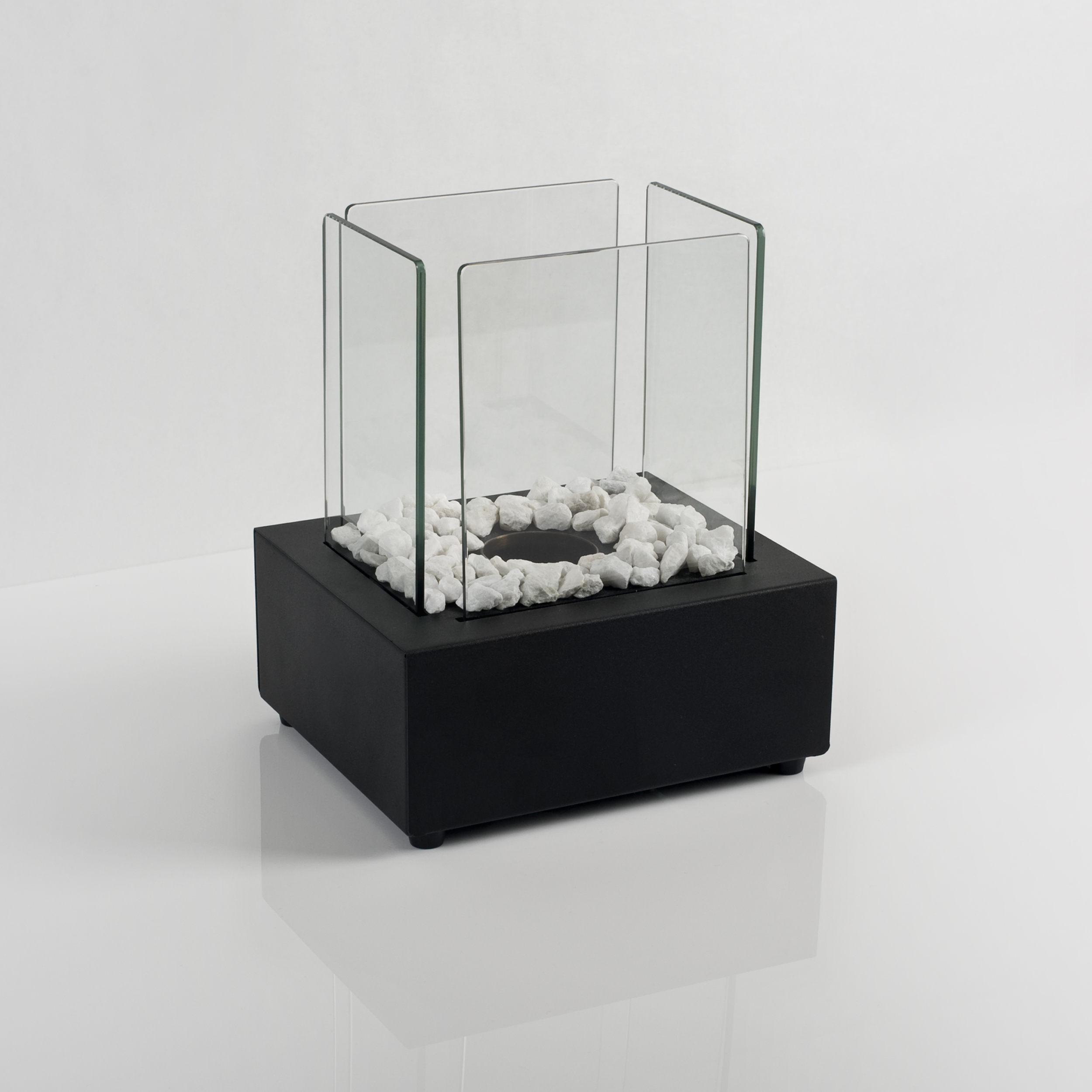 Glass Cube II Gel or Bio Table Fire