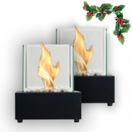 A gift bundle! 2 x GLASS CUBE BURNER BLACK