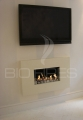 BIO CONTAINER (large) in own-built fireplace at one of our employee\'s apartment