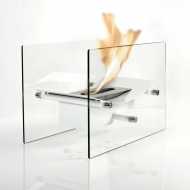 OUT OF STOCK - Bow White Table Fire