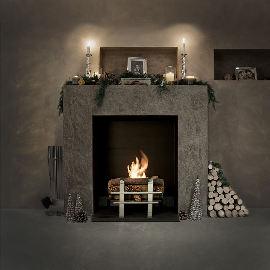 Cotswold real log bio fire grate for Gel alcohol fireplace