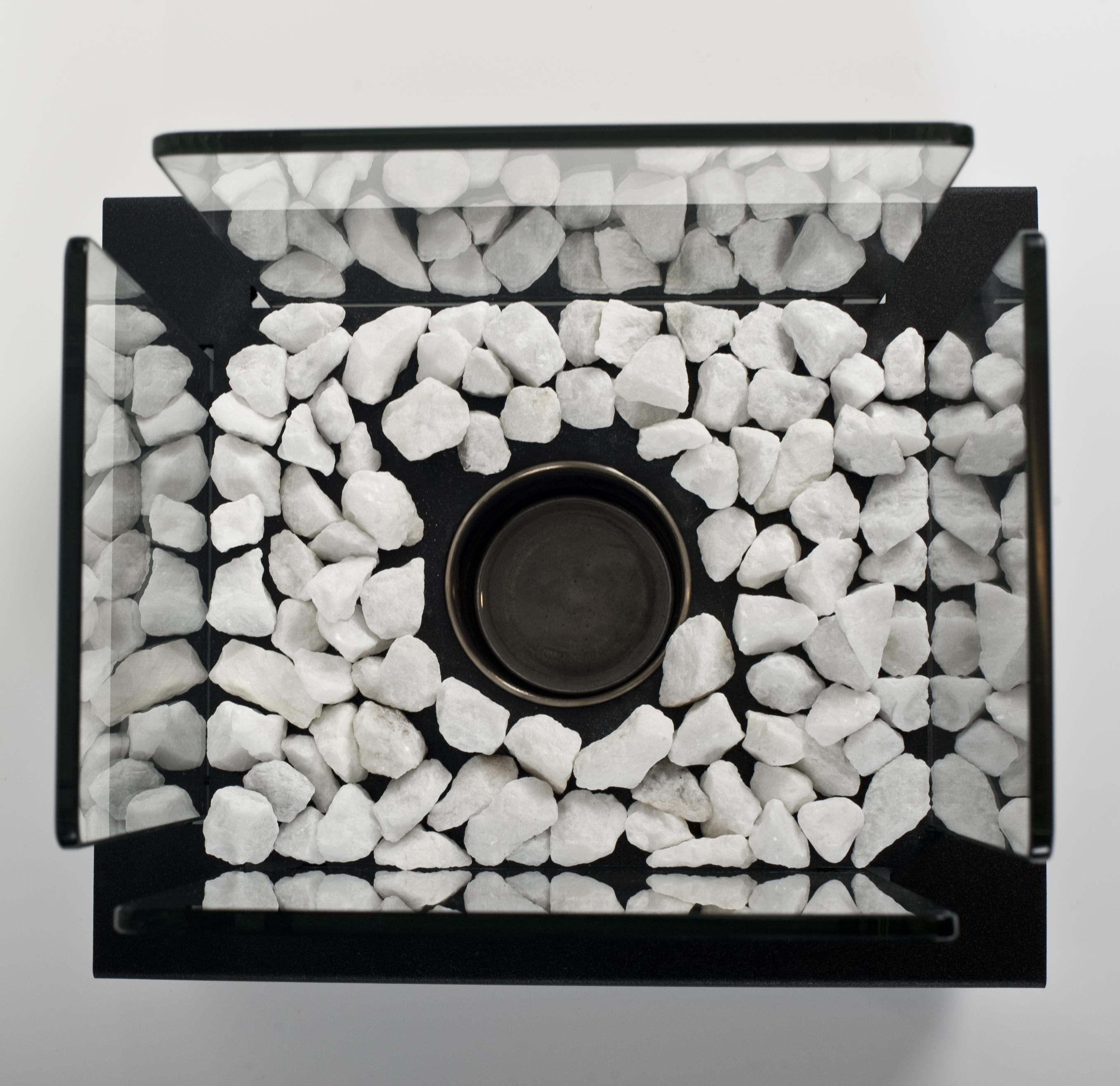 Glass Cube II Gel or Bio Table Fire
