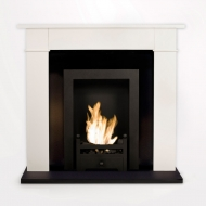 Carrington Cream Traditional Bio Ethanol Fireplace
