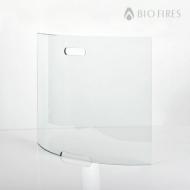 Curved Glass Firescreen