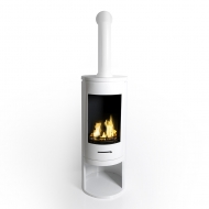 NEW - Contemporary Cylinder Bioethanol Stove with Pipe