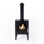 PRE-ORDER NOW - Black Traditional Bio Ethanol Stove with Pipe